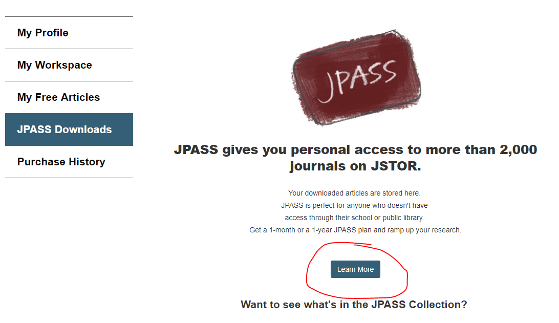 JPASS downloads screen